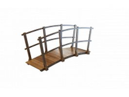Rustic style timber bridge 3d preview