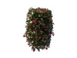 Blooming planter column 3d preview