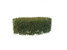 Garden curved hedge 3d preview