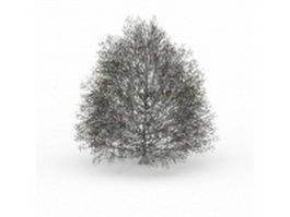 Winter snow tree 3d model preview