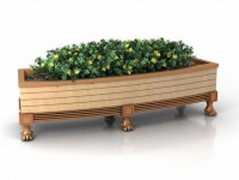 Raised garden bed with planter 3d preview