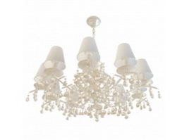 10 Arm chandelier 3d preview