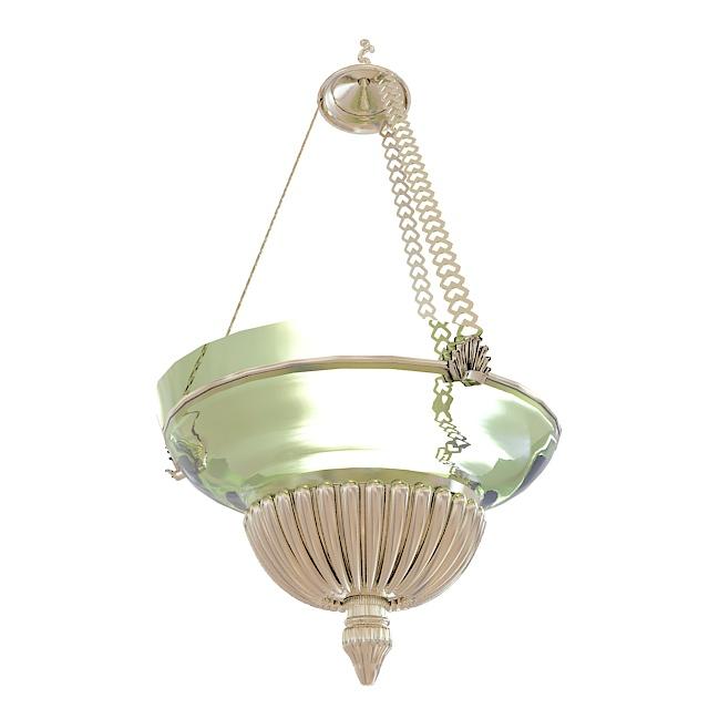 Hung bowl pendant light 3d rendering