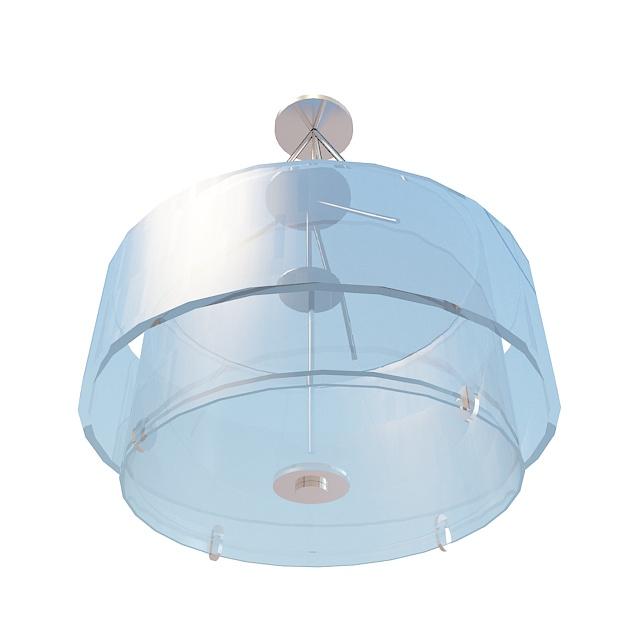 Drum pendant light fixture 3d rendering