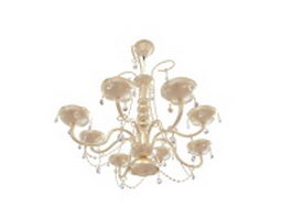 8 Arm chandelier 3d preview