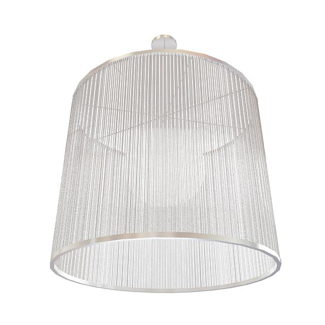 Crystal pendant light 3d rendering