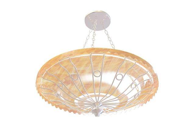 Dish bowl pendant 3d rendering
