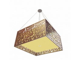 Square pendant light fixture 3d preview