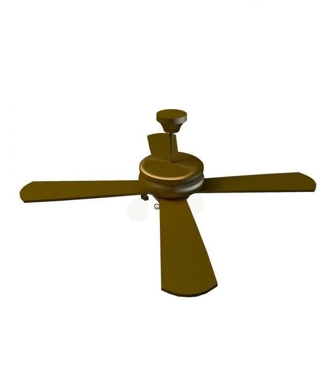 Fan light 3d rendering