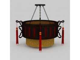 Antique Chinese pendant light 3d preview