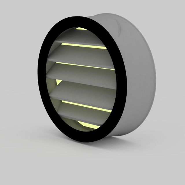 Bath heater light 3d rendering