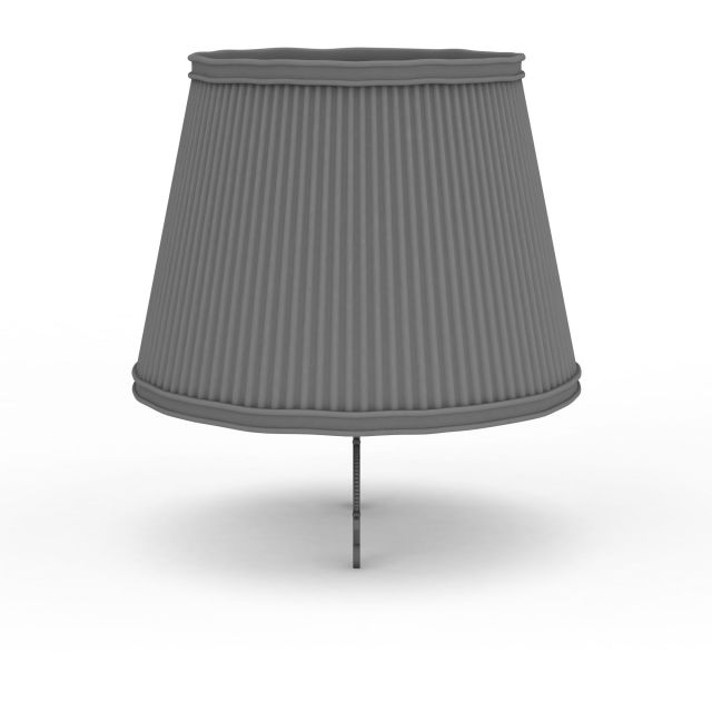 Traditional lamp shade 3d rendering