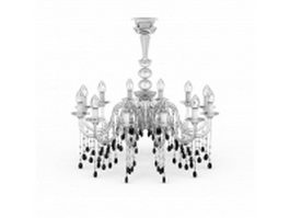 Candle light chandeliers 3d model preview
