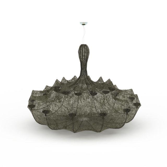 Paper pendant light 3d rendering