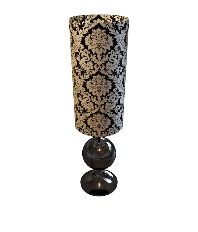 Modern cylinder table lamp 3d rendering