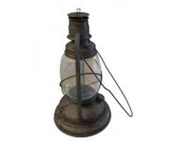 Antique oil lamp 3d preview