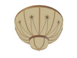 Dome ceiling light fixture 3d preview