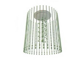 Hanging bead lamp 3d preview