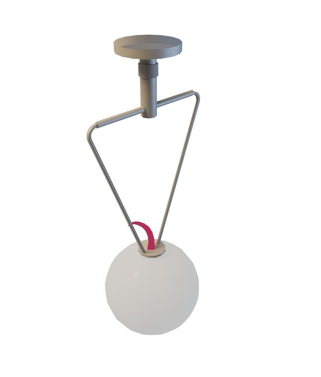 Hanging ball lamp 3d rendering