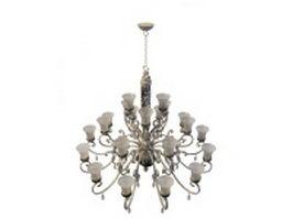 Arm chandelier light fixture 3d model preview