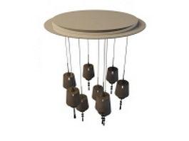 Ceiling drop lights 3d preview