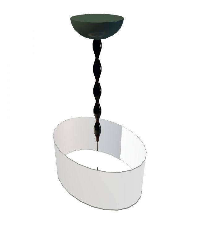 Contemporary pendant light 3d rendering