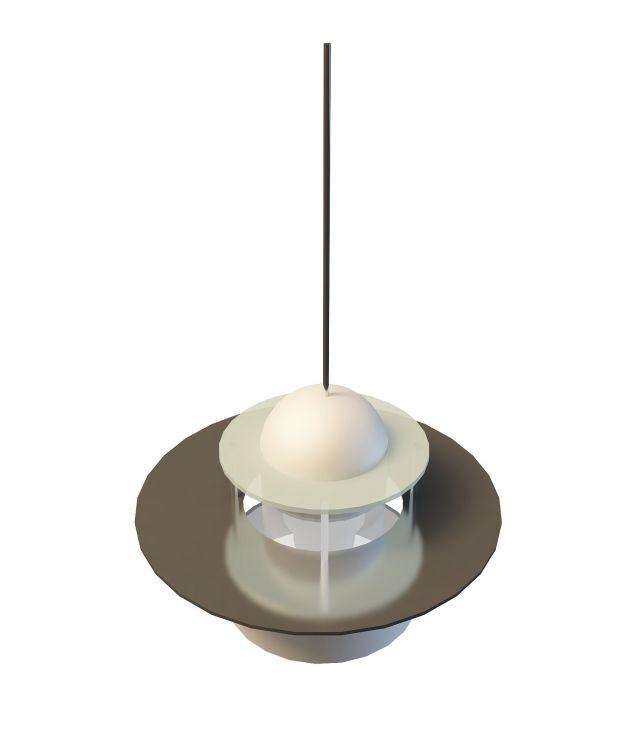 Industrial pendant light 3d rendering