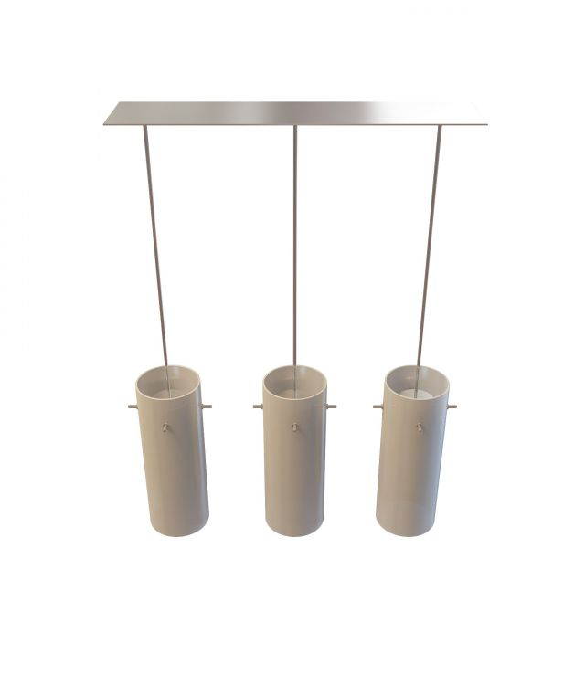 3 Light bar pendant 3d rendering