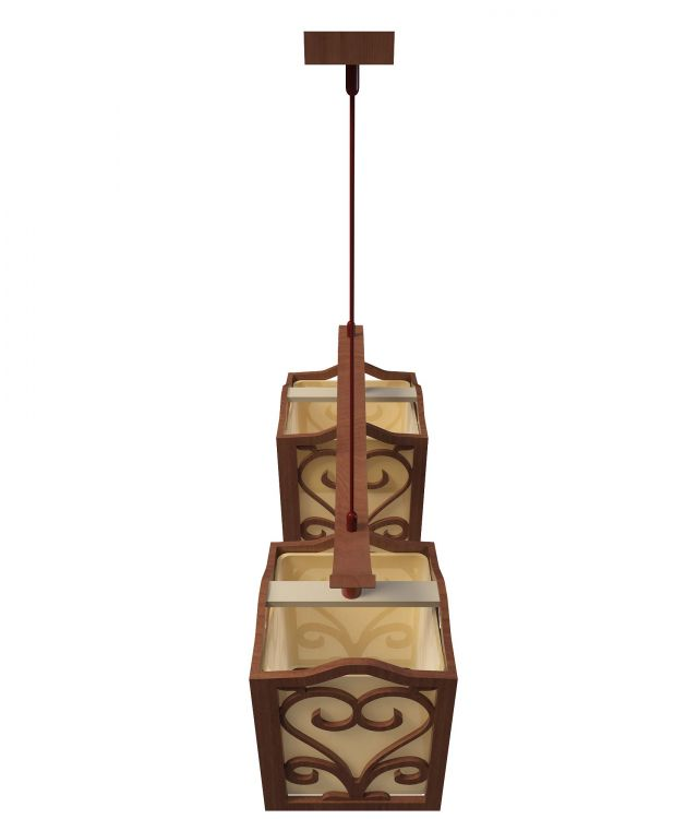 Chinese style pendant light 3d rendering