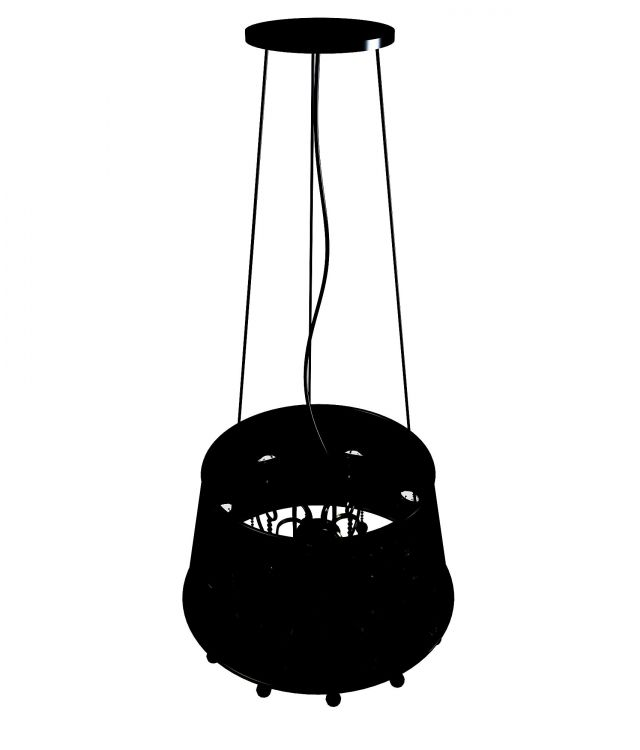 Black pendant light 3d rendering