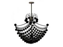 Regency style beaded chandelier 3d model preview