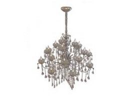 19 Light candelabra chandelier 3d model preview