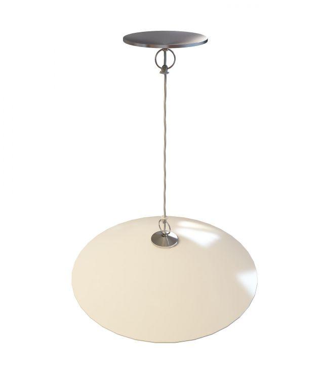 Modern white pendant light 3d rendering