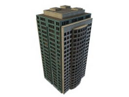 Tall modern office building 3d preview