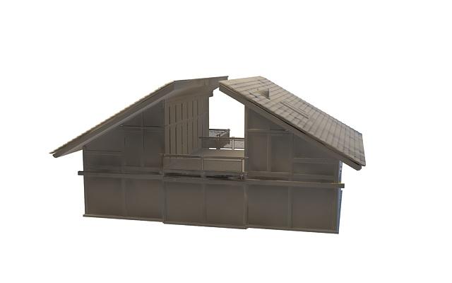 Farm house architecture 3d rendering