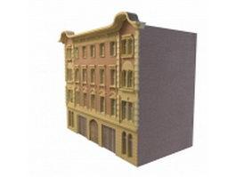 Vintage apartment building 3d model preview