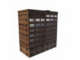 Vintage office building 3d model preview