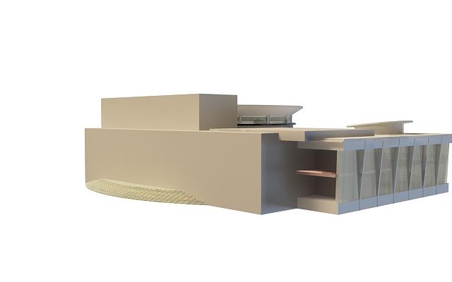 Exhibition pavilion 3d rendering