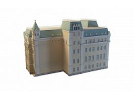Old Moscow building 3d model preview