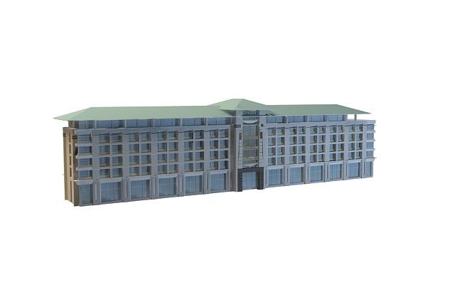 Hotel building 3d rendering