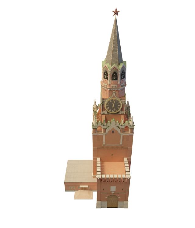 Spasskaya Tower 3d rendering
