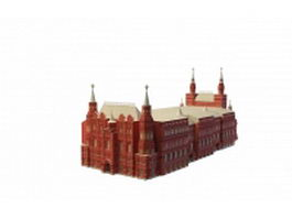 State Historical Museum Moscow 3d preview