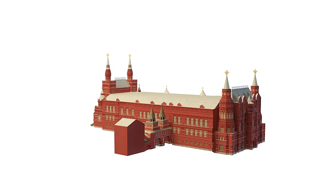 State Historical Museum Moscow 3d rendering