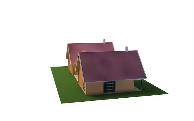 Frame for ailla and small house 3d rendering