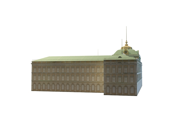 Palace of Congresses 3d rendering