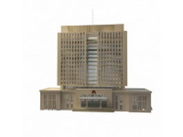 Chinese government office building 3d model preview