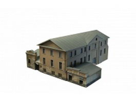 Old Russian house 3d model preview
