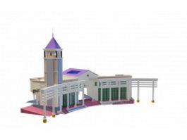 Park entrance design 3d preview