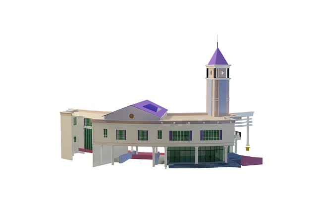 Park entrance design 3d rendering