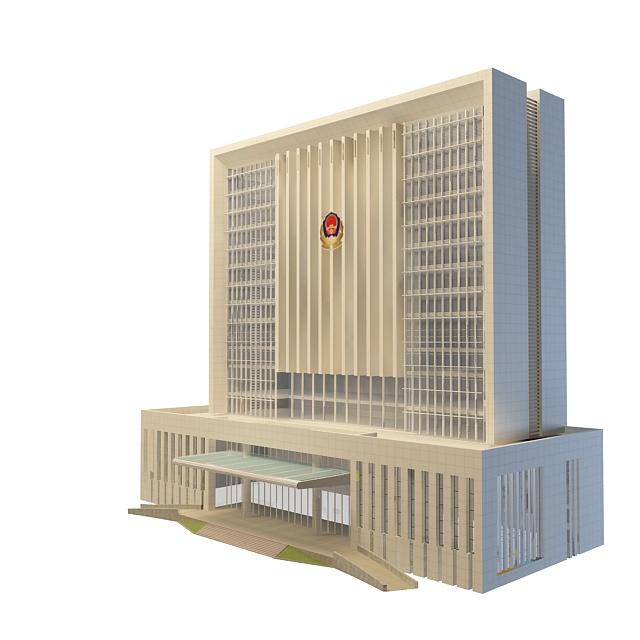 Police department building 3d rendering